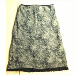 Studio Y ~ Animal Print Skirt Lace Trim ~ Lined